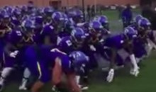 HS Football Team Crawls Out of a Cage in Pre-Game Routine (Video