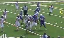 HS Player Hurdles an Opponent, Then Another One, During TD Run (Video)