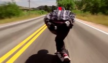 Insane Longboarder Hits 70 MPH on a Colorado Highway (Video)