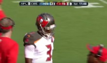 Jameis Winston First Career Pass Is an Interception (Video)