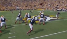 Auburn QB Jeremy Johnson With The Worst Throw You'll Ever See (Video)