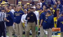 Jim Harbaugh Throws First Sideline Tantrum With Michigan (Video)