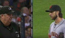Madison Bumgarner and Umpire Joe West Had a Staredown (Video)