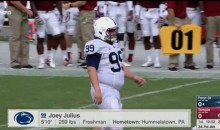 Joey Julius, Penn State's 259-LB Kicker, Achieves National Stardom (Video)