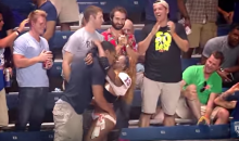 Lingerie Football League Player Scores, Makes Out with Fan (Video)