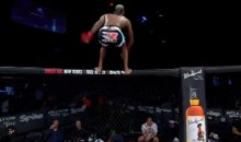 MMA Fighter Celebrates With Backflip Off Cage, Lands On Camerawoman (Video)