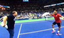 Things Get Weird at US Open When Novak Djokovic Dances With a Fan (Video)