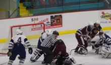 High School Players and Parents Savagely Attack a Hockey Referee (Video)