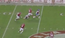 Crazy Touchdown Off Player's Helmet Helps Ole Miss Beat Alabama (Video)