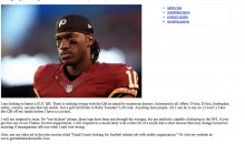 Redskins Fan Trying To Sell RG3 On Craigslist For Anything