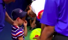 Roger Federer Saves Kid From Getting Crushed in Autograph Stampede at U.S. Open (Video)