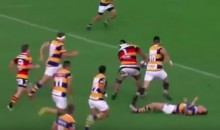 Rugby Player Tries to Make Tackle, Gets KO'd (Video)