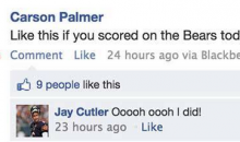 Carson Palmer Mocks the Bears on Facebook and the Entire NFL Responds