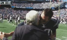 Tom Brady and Robert Kraft Share a Pre-Game Kiss On Live Television (Video)