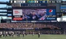 Child In Gronk Jersey Tearing Up The Jumbotron after Touchdown (Video)