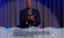 The Rock Drops a Strong Response to Kimmel's 'Mean Tweets' (Video)