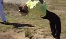 This Backflip into a Bunker Doesn't Go Very Well at All (Video)