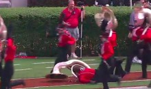 Tuba Player Faceplants as Georgia Band Runs Off the Field (Video)