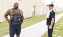 Vince Wilfork Wears Overalls To Texans Practice (Videos)