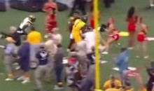 West Virginia Player Steamrolls Maryland Cheerleader (Video)