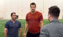 Watch Gronk Fall in Love With These Magic Tricks (Video)