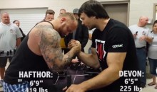 Watch The Mountain from 'Game of Thrones' Lose an Arm-Wrestling Match (Video)