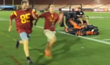 Will Ferrell Races USC Fan, Wins (Video)