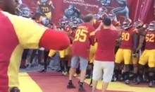 Will Ferrell Leads USC Out Of Tunnel vs. Stanford (Video)