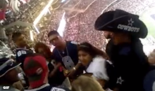 Bullying Female Cowboys Fan Fights Dude At Cowboys Game (Video)