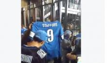 Upset Lions Fans Spit On & Attempt To Burn Matt Stafford Jersey (Video)