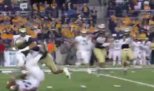 Montana State Bobcats Player Delivers Bone Crushing Hit to Fort Lewis RB (Videos)
