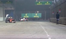 Insane F1 Fan Takes Casual Stroll on Track During Singapore Grand Prix (Video)