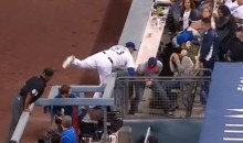 Jackass Fan Wrestles Adrian Gonzalez for Foul Ball, Gets Booed (Video)