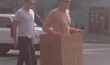 Fantasy Football Loser Has to Walk Down the Streets of Minneapolis in the Buff (Pics)