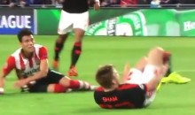 Manchester United's Luke Shaw Broke His Leg in Half Yesterday (Warning: Gruesome Video)