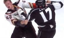 Marathon Hockey Fight: Milan Lucic Battles Rookie Josh Manson in His First Fight with the Kings (Video)