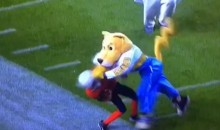 Nuggets Mascot Obliterates, then Taunts Youth Football Player (Video)