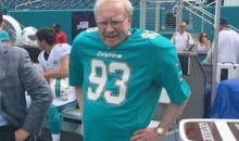 Warren Buffet Wearing a Ndamukong Suh Jersey…and Shoulder Pads? (Pic)