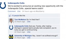 The Colts Advertise Their New Job Opening On Facebook and the NFL Responds