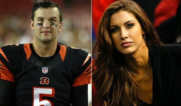 Aj Mccarrons Wife Wasnt Happy About The Cameras In The Bengals Locker Room  Total -1526