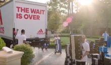 Adidas Welcomes James Harden With a Truck Full Of Sneakers (Pics + Video)