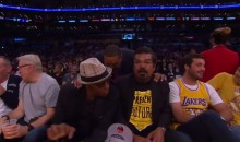 Lakers Game Delayed After Arsenio Hall and George Lopez Spill Drink On Court (Video)