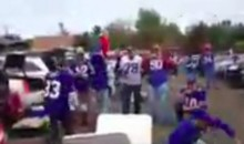 Bills Fan Pulls off a Sweet WWE Move at a Tailgate (Video)