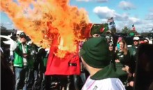Jets Fans Burn Robert Griffin III Jersey During Tailgate (Video)