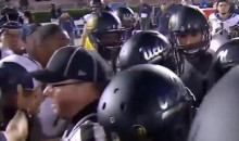 Camera Operator Gets Knocked Down During UCLA-Cal Scuffle (Video)