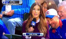 Cubs Fan Checks Out Field Reporter's Butt on Live TV (Video)