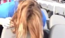 Disgusting Lions Fan Pukes All Over Seats at Ford Field (Video)