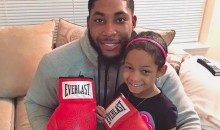 Floyd Mayweather Sent Leah Still an Autographed Glove (Pic)