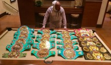 Floyd Mayweather Shows off His Championship Belt Collection on Instagram (Pic)
