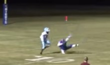 HS Player Makes Ridiculous One-Handed Interception, Beckham-Style (Video)